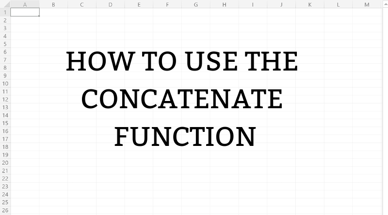 how to use the concatenate function