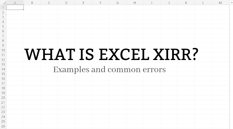 Excel Xirr Function Examples