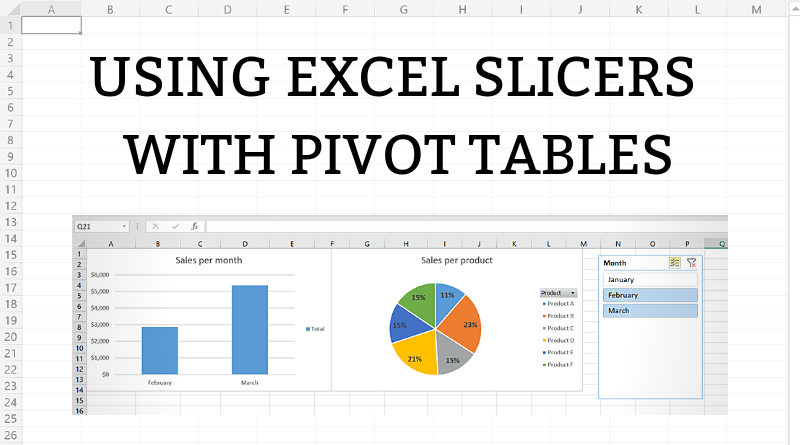 How to use Excel Slicers with PivotTables - TutorialsForExcel