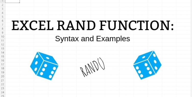 Excel RAND function